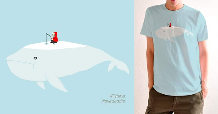Fishing by ilovedoodle on Threadless