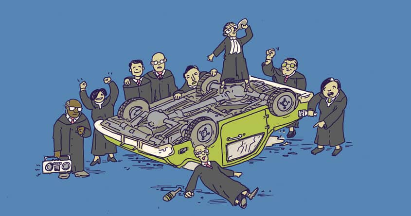 Supreme Court Overturns Car by ISABOA on Threadless