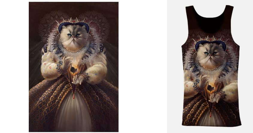 Cat Queen by clhess on Threadless