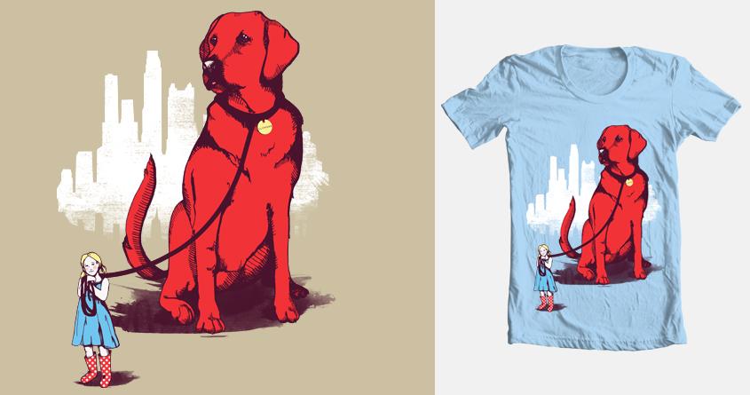 My Big Red Dog by ashtrashbigash on Threadless