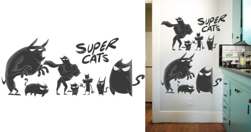 SuperCats by Arashocky on Threadless