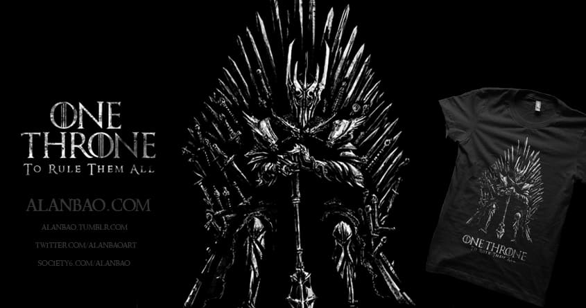 One Throne to Rule Them All by AlanBao on Threadless