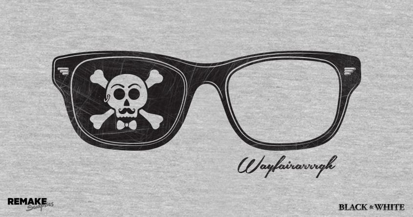 Hipster Pirate by quick-brown-fox on Threadless