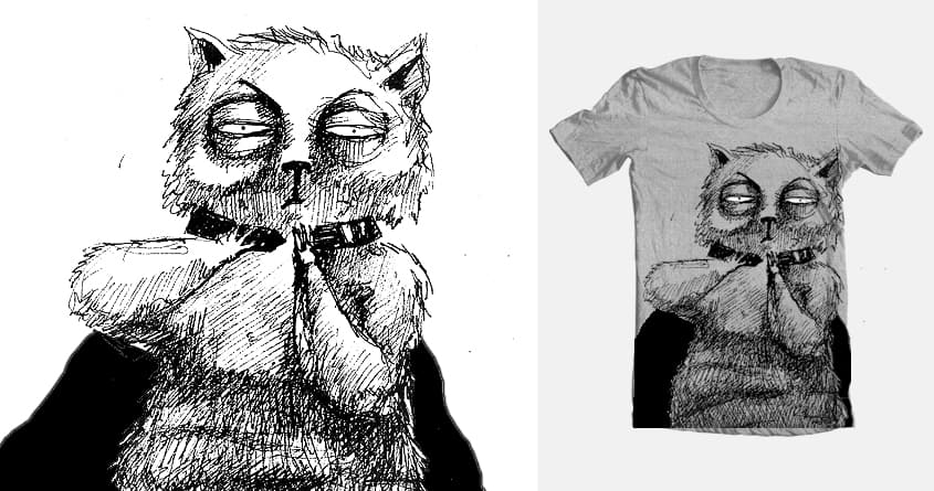 ain't no simple cat by asta did on Threadless