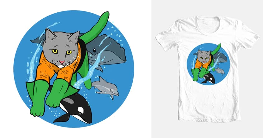 AquaCat by tuckerpbrown on Threadless