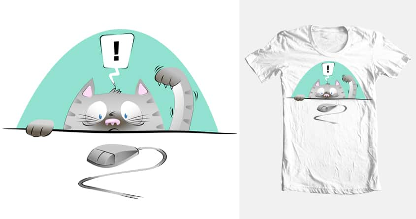 A game of Cat and... Mouse? by ByNate on Threadless