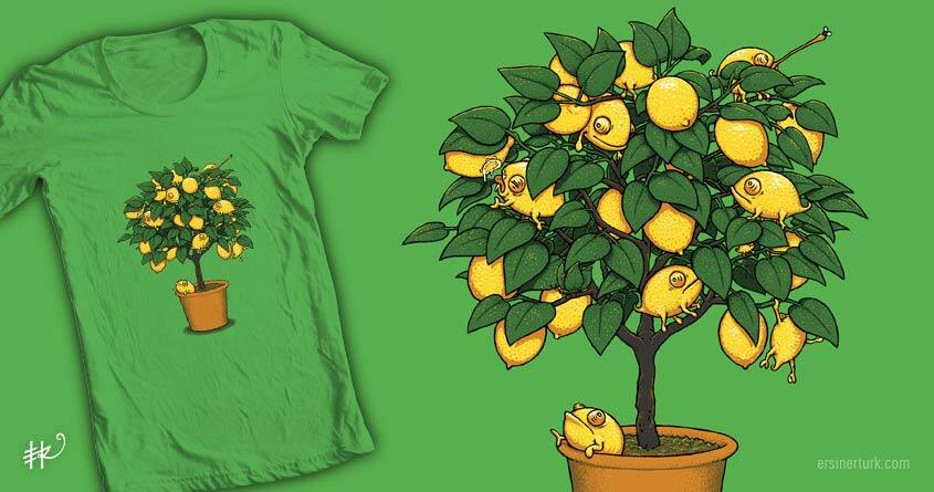 Chamelemon Tree by ersinerturk on Threadless