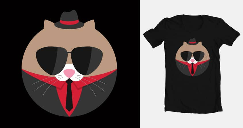 """Leave The Gun, Take the Friskies"" by seanmarks on Threadless"