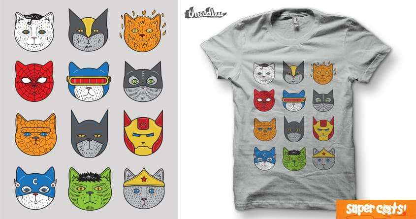 Super Cats by Leo Canham on Threadless