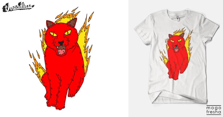 angry cat by mogo fresha on Threadless