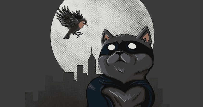 Catman and a Robin by JessieSima on Threadless