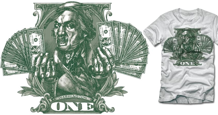 One Dolla Bill by polynothing on Threadless