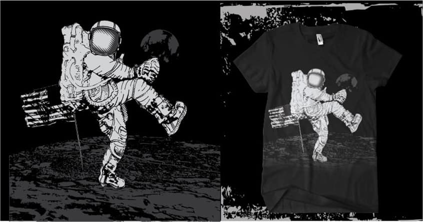 Base Ball on the Moon by hdcreation on Threadless