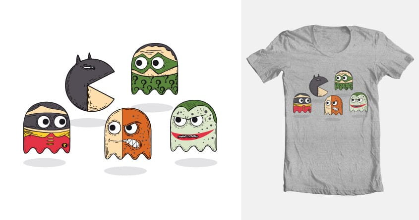 Pacman & Robin by montt on Threadless