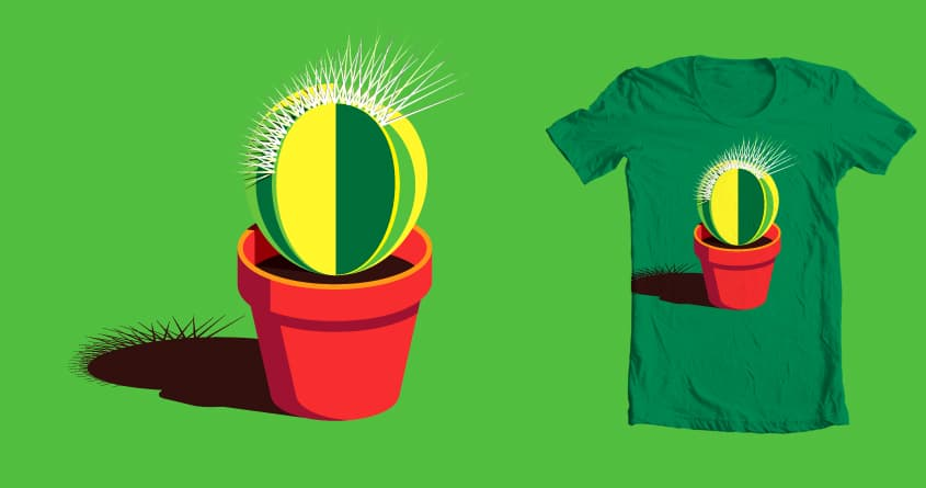 Punk Cactus by Marie Bois on Threadless
