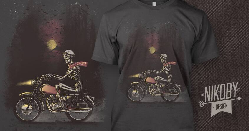 Death Rides in the Night by nikoby on Threadless