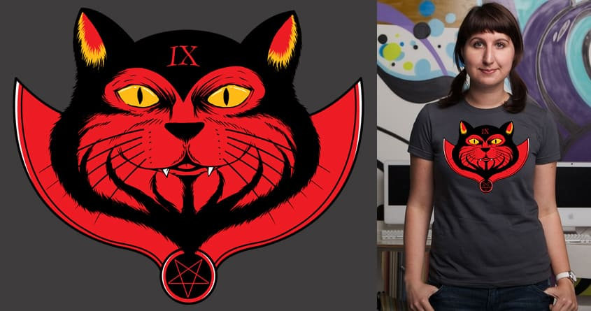 Evil Cat by Doodle by Ninja! on Threadless