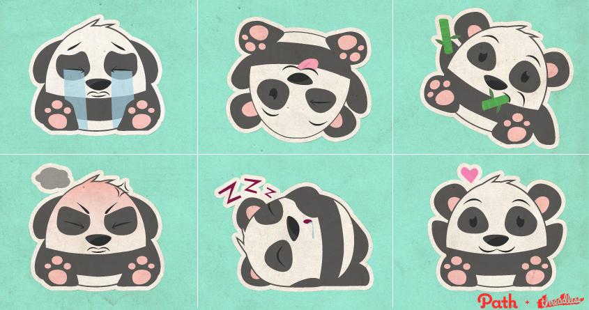 Panda - Path Design by msrachy on Threadless