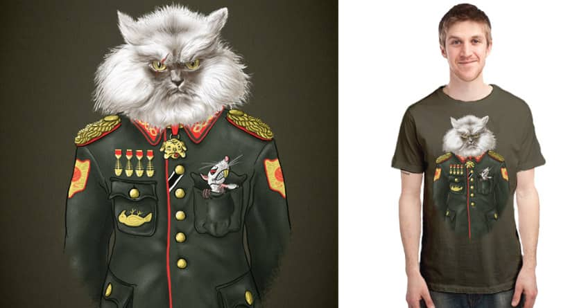 Generalissi-Meow by osaze on Threadless