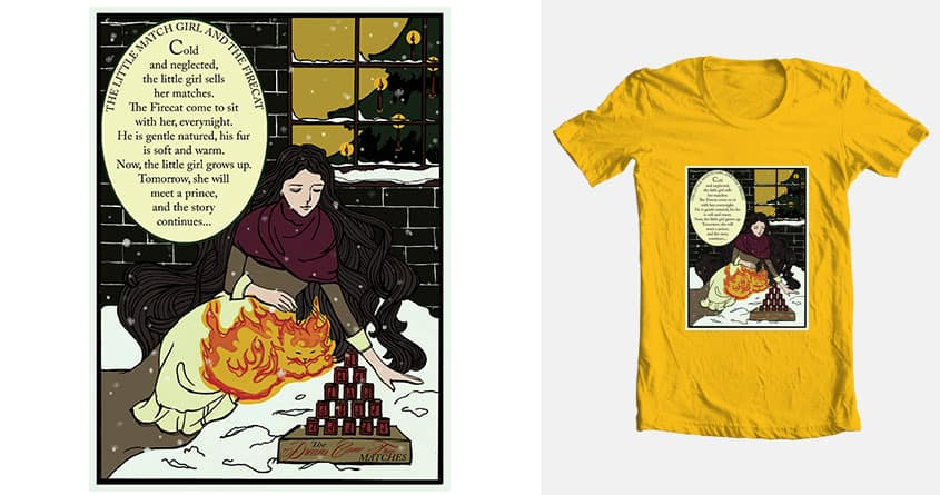 The Little Match Girl and the Firecat by jenimao on Threadless