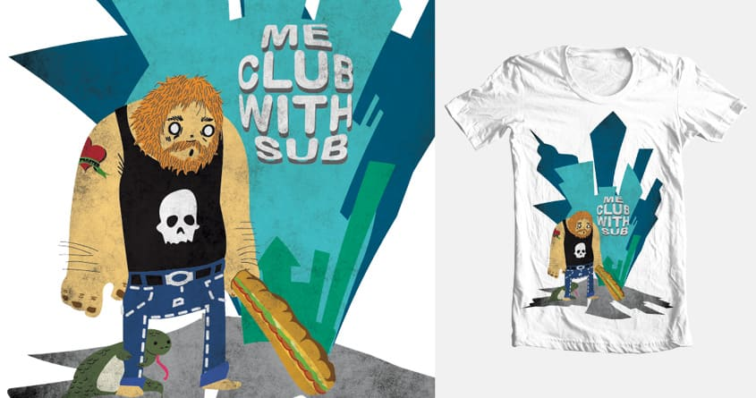 urban caveman by qswitcho on Threadless