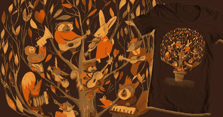 Tree party by heymonkeyriot on Threadless