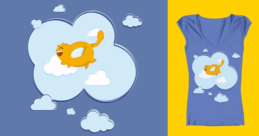 Flying Cat by KroCro on Threadless