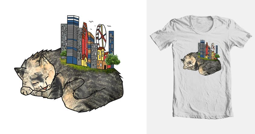 Earth Cat Power! by Katzmejia on Threadless