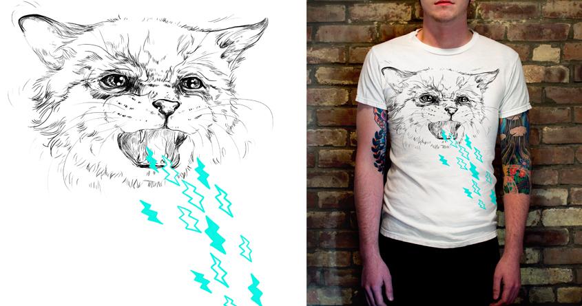 CAT ZEUS  by JackieFarkas on Threadless