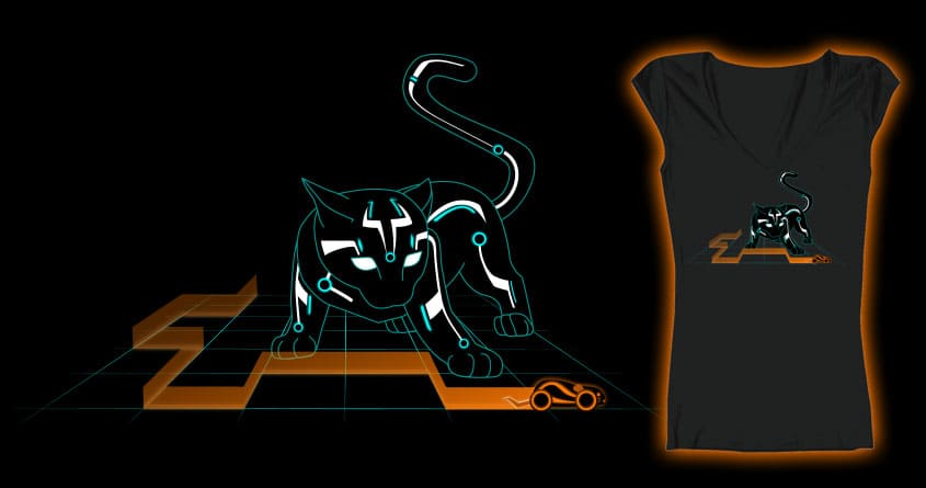 Kitty on the Grid by mkrobinson0122 on Threadless