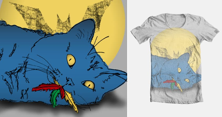 Catman and Robin by rclagett on Threadless