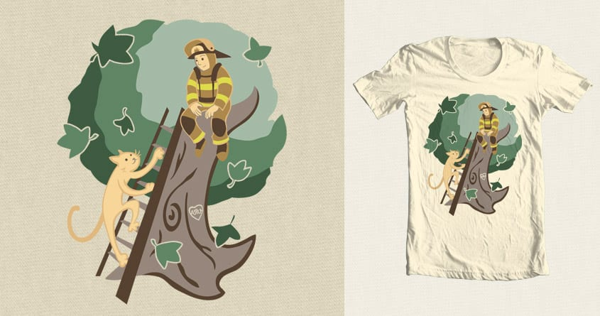 Stuck in a Tree by kylewalters on Threadless
