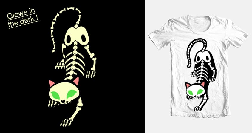 Skeleton Cat by Emeowlie on Threadless
