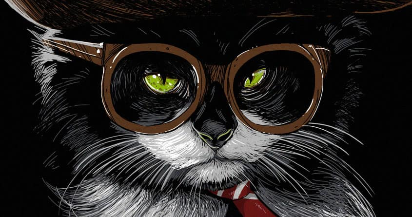 The Cat Behind the Tuxedo by rhobdesigns on Threadless