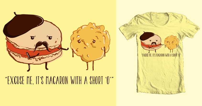 Macaron vs Macaroon  by suzieshin on Threadless