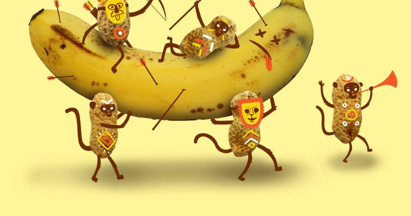 Monkeys are nuts by Wharton on Threadless