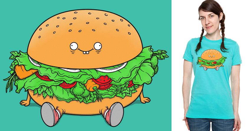 Vegetarian Hamburger by Doodle by Ninja! on Threadless