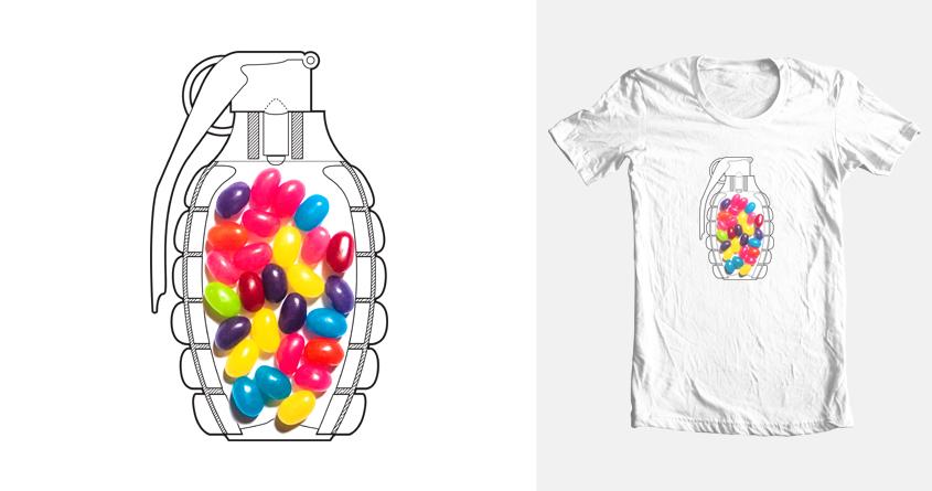 Make Jelly Beans Not War by tastygoldfish on Threadless