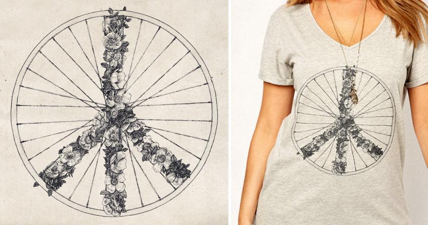 Peace & Bike by speakerine on Threadless