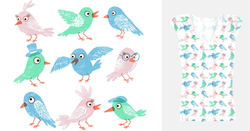 Birds by theserestlesshands on Threadless