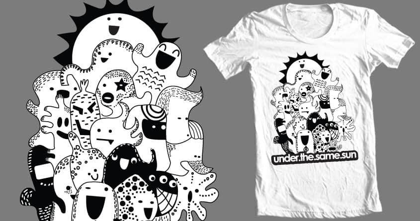 under the same sun in doodle world by qswitcho on Threadless