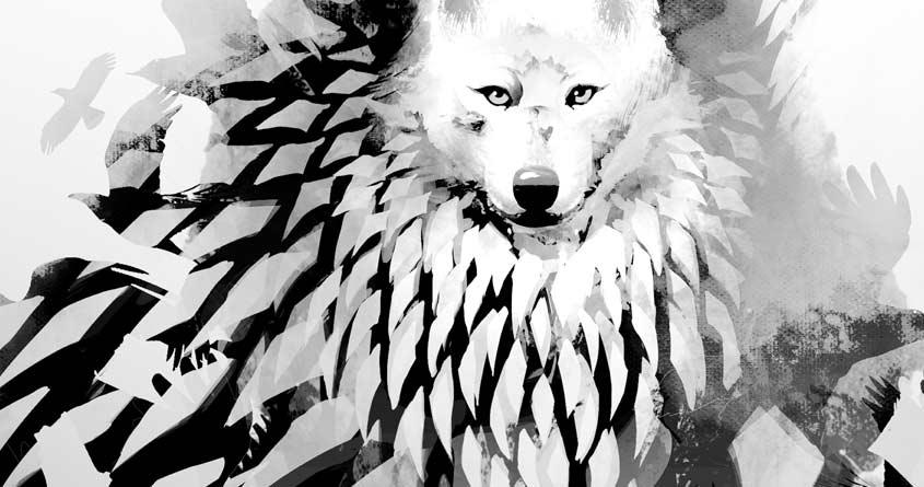 Wolf II by jimiyo on Threadless
