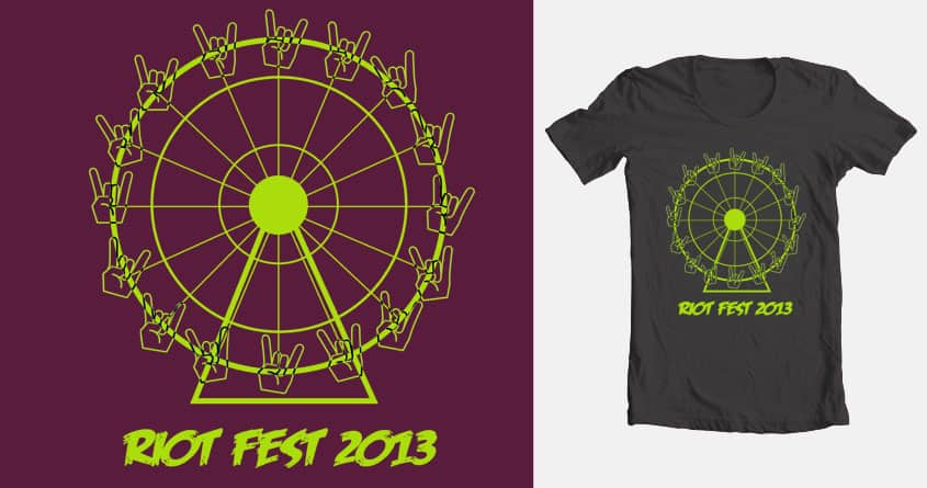 riot wheel by PaolAllen on Threadless