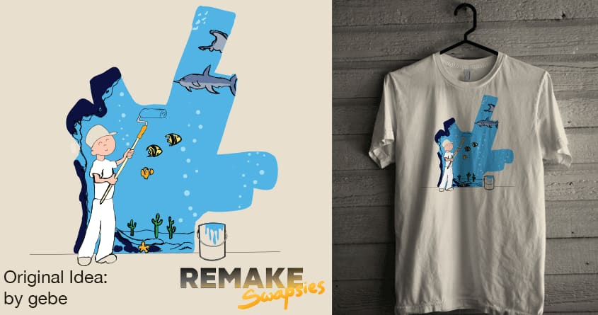 Sea Painter by Theo86 and gebe on Threadless