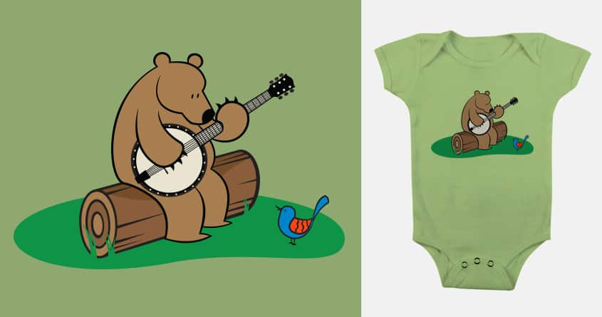 Banjo Bear by Firehat45 on Threadless