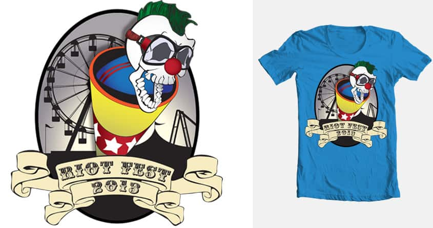 Riot the Skull Clown by Worrellwide on Threadless