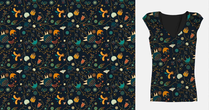 flowers of fall I by murkelei on Threadless