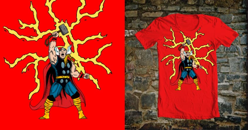 Son of Odin, God of Thunder by BC_Arts on Threadless