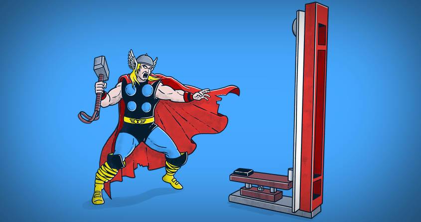 The Strongman Game Champion by yortsiraulo on Threadless