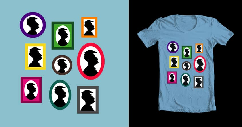 Silhouette Night by klam21 on Threadless